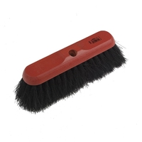 """Assembled 11"""" Red Dyed Coco Soft Broom (WT546/H)"""