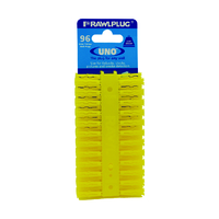 RAWLPLUG UNO WALLPLUGS 5MM YELLOW
