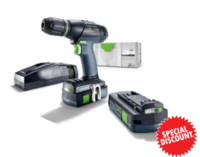 Festool 575597 Cordless drill T 18+3 Li 3,1-Compact S GB + FREE 5.2AH BATT  (Ploughing Special Discount Price)