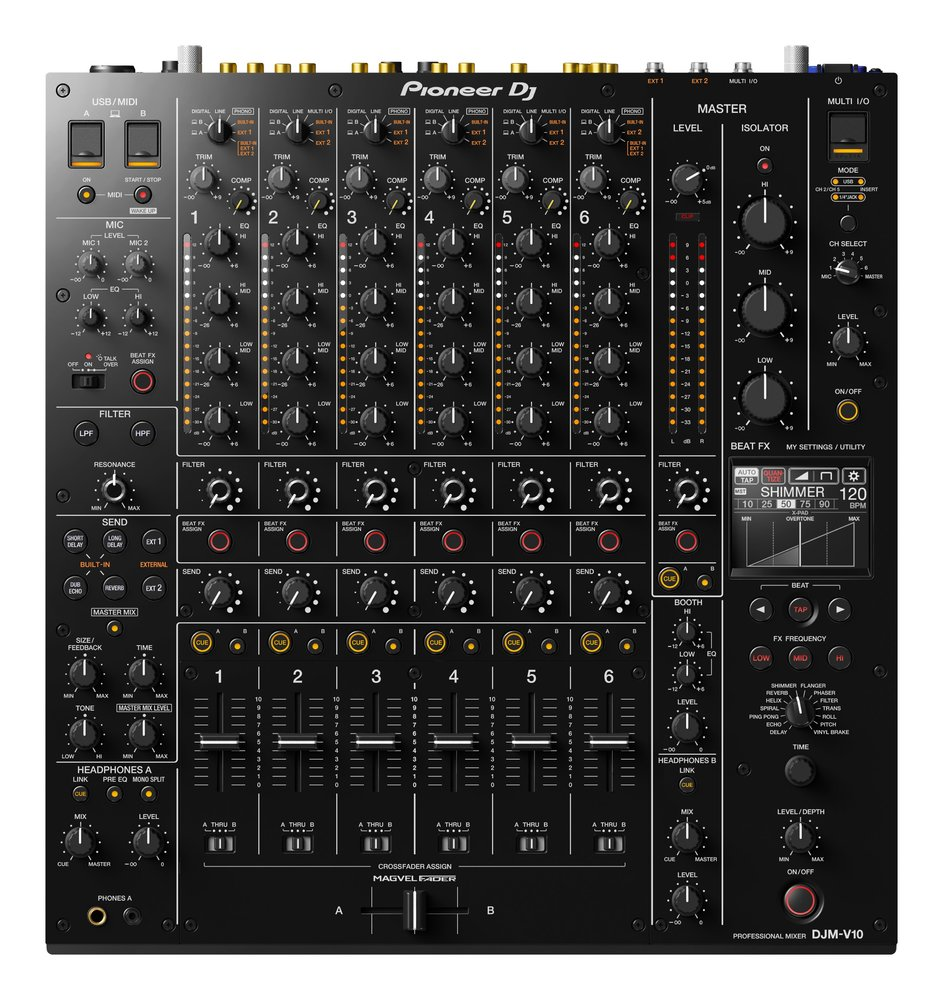 Pioneer DJ DJM-V10 6 Channel Professional High End Digital Mixer