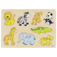 Wooden Peg Puzzle - Zoo Animals