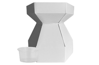 CUPCAKE BOUQUET BX/CUPS WHITE