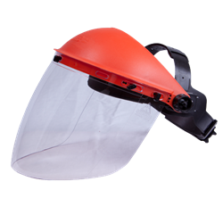 561020 Face Shield Orange With Clear Antifog High Impact