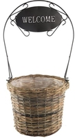 Welcome Planter Basket Small