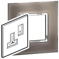 Arteor (British Standard) Plate (5a & 13a 1g) Mirror Taupe | LV0501.0183
