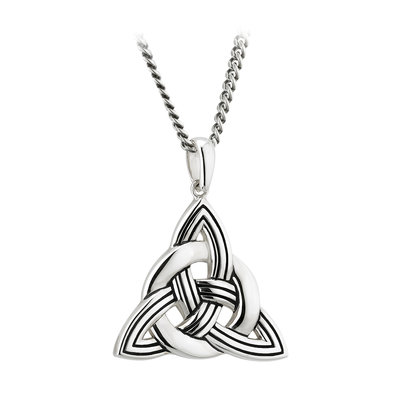 sterling silver heavy celtic knot pendant s46372 from Solvar