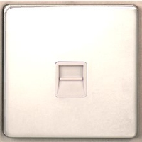 DETA Screwless RJ11 data plate White Metal | LV0201.0211