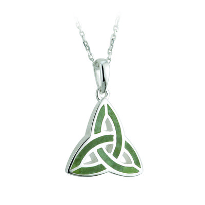 sterling silver connemara marble trinity knot pendant s44701 from Solvar