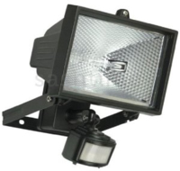 500 WATT T/H FTG PIR&LAMP BLACK