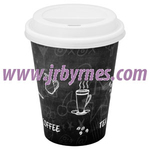 CASE Cups 8oz Single Wall Black WHat x1000