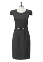 Charcoal Jolie Ladies Round Neck Dress