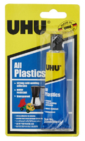 U37595 UHU ALL PLASTICS ADHESIVE 33ML