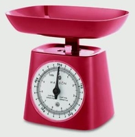 HANSON 5KG MECHANICAL KITCHEN SCALE RED