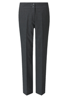Charcoal Carla Ladies Slim Leg Trouser