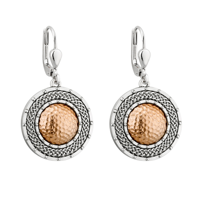 RHODIUM RGP DOME CIRCLE EARRINGS