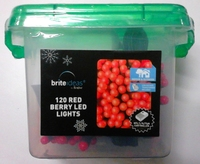 120 LED BERRY LIGHT RED  IN/OUTDOOR