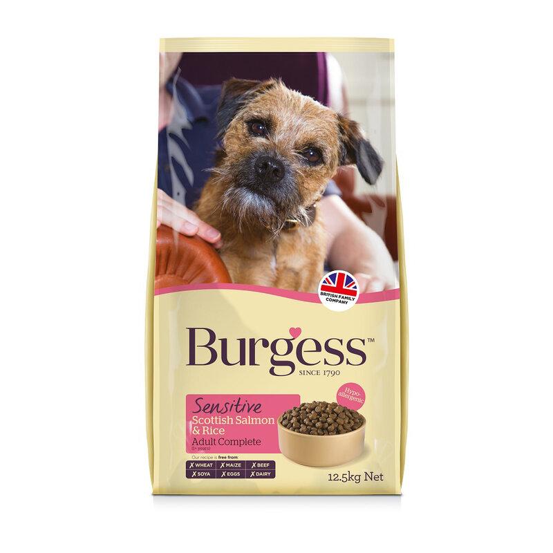 Burgess Sensitive Scottish Salmon & Rice Dog Food 12.5kg