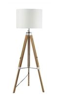 Easel Tripod Floor Lamp Light Wood, Base Only | LV1802.0146