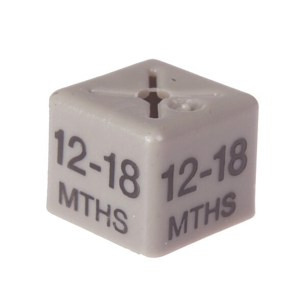 SHOPWORX CUBEX 'Age 12-18m' Size cubes - Grey (Pack 50)