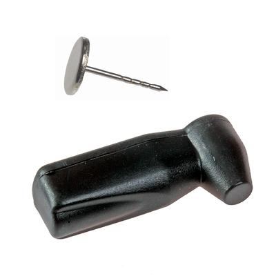 SEKURA RF Black Mini Pencil Tag light lock (opens with S3 key) with flat head Pin (Box 100) Pin Tag