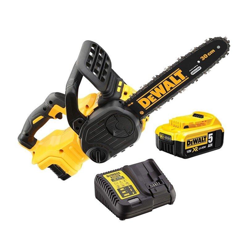Dewalt DCM565P1 18V XR Chainsaw C/W 1 x 5.0Ah Li-ion Battery & Charger