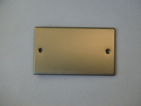2 Gang Satin Chrome Blank Plate