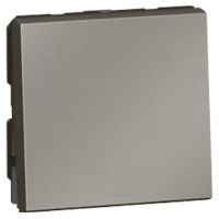 Arteor Double Pole Switch 20Amp 1 Way 2 Module - Magnesium  | LV0501.0750