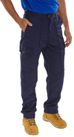 Click Navy Classic Polycotton Work Trousers