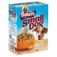 Bakers Complete Small Dog Meaty Meals - Chicken 1kg x 4