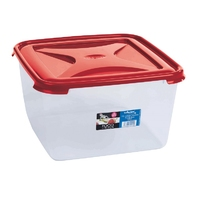 Cuisine 15ltr Large Square Food Box Chili Red Lid