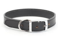 "Ancol Heritage Leather Collar Black 24"" x 1"