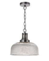 Tack 1 Light Glass Pendant Industrial Nickel | LV1802.0105