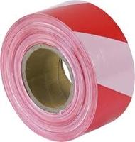 Warning Tape Red/White 500M