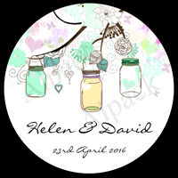 JAM JAR TREE LABEL