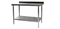 Wall Bench Stainless Steel 1500mm x 650mm