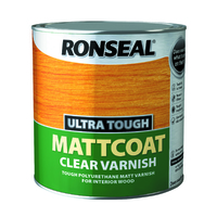 Ronseal Ultra Tough Varnish 2.5L Matt Coat