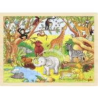 Africa Animals Wooden Jigsaw Puzzle