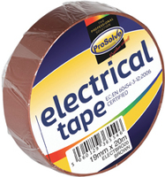 ELECTBRO20 19MM X 20M BROWN INSULATING TAPE X 10
