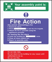 Fire Action Sign FACT0008-0445