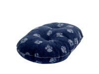 """Danish Design Oval Fleece Mattress - Navy Blue 18"""" x 1"""