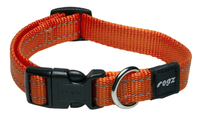 "Rogz Utility Orange Medium (Snake) Side Release Adjustable Collar 10""-16"" x 1"
