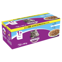 Whiskas Pouches - 1+ Fish Selection Jelly 100g 40 for 36 Pk