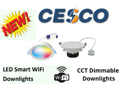 New Wi-Fi Smart LED Downlights & Dimmable CCT DownLights