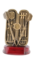 18cm Darts & Case with 25mm Recess (Ant Gold)