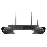 4CH HD 1TB DVR + 2PC Black Bullet Camera Kit Wireless