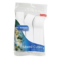 Kingfisher 60 Plastic Mixed Cutlery