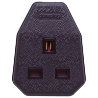 13A 3 PIN TRAILING SOCKET BLACK