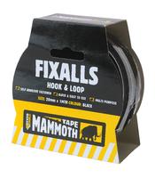 Everbuild Fixalls Hook & Loop 20mm Black 1 Metre