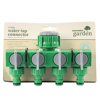 Kingfisher 4 Way Water Tap Connector - 6084W (6084W)