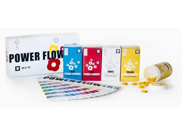 Create any and all colour's for chocolate: With these amazing 4 colour's from Power Flowers™ Non Azo Colouring, The only colour's to be used with All Callebaut Chcocolates...